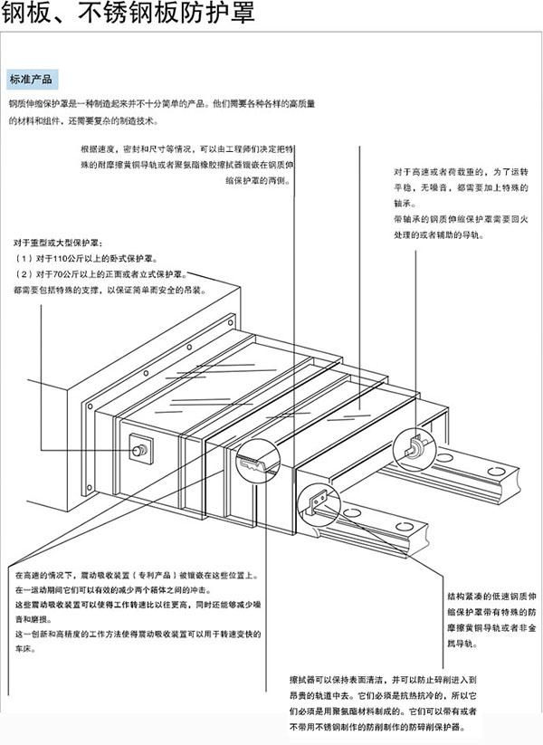 钢板防护罩|钢板伸缩式护罩-沧州冠霆机床附件有限公司