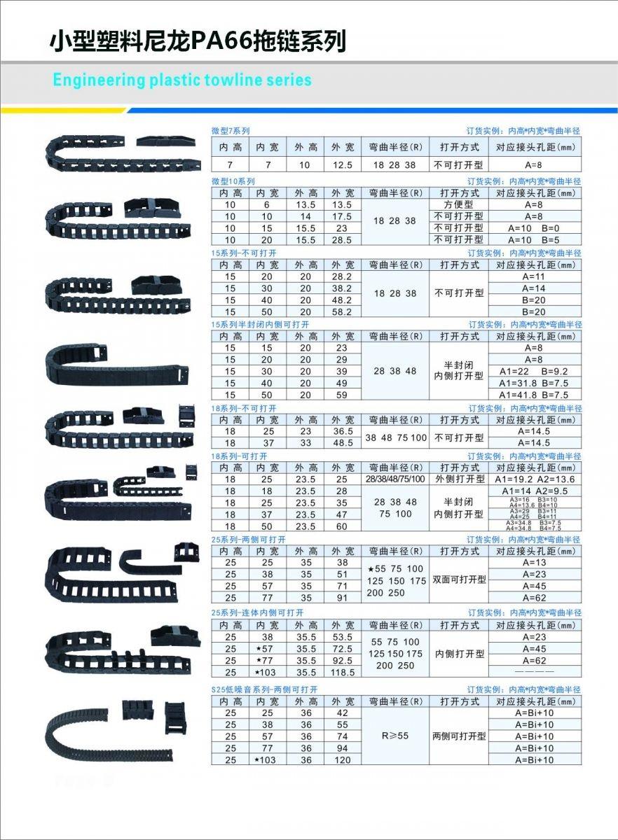 尼龙拖链 尼龙拖链系列-沧州冠霆机床附件有限公司